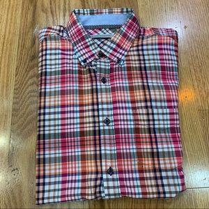 James Campbell Multicolor Plaid Short Sleeve Shirt